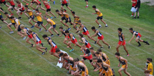 Staying Positive and Working Hard:  THS Cross Country